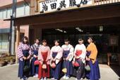 群馬県富岡市返礼品「工女の衣装でまちなか歩き」