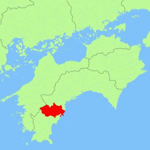 高知県四万十町地図