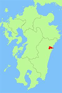 宮崎県門川町地図