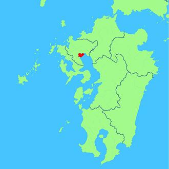 佐賀県白石町地図