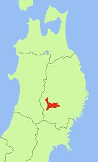 岩手県北上足地図